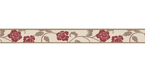 Tapetenborte Bordüre Blüten Blätter creme beige AS 2820-19 online kaufen
