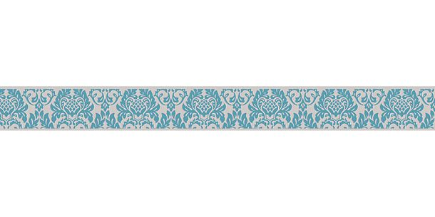 Wallpaper Border self-adhesive Baroque grey turquoise 30389-1 buy online