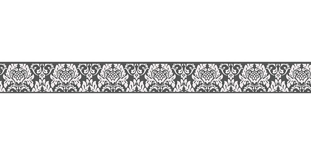Tapetenborte Bordüre Barock schwarz weiß AS 30389-3