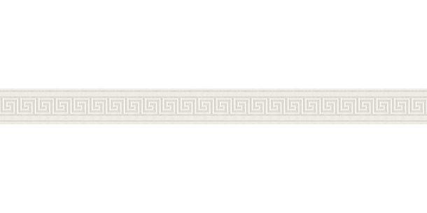 Tapetenborte Bordüre Griechisch weiß silber Glanz AS 8959-12 online kaufen