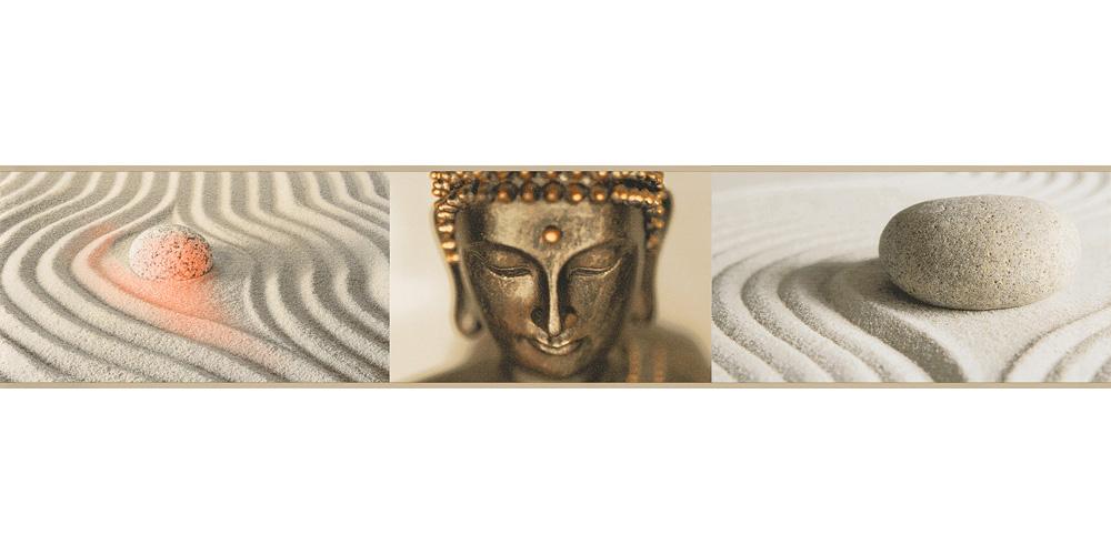 Tapetenborte Bordüre Buddha gold creme AS 9057-10