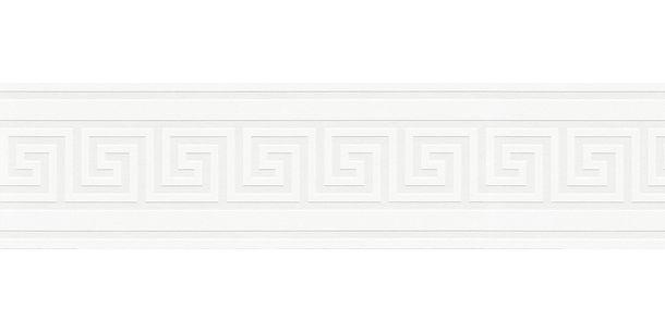 Tapetenborte Bordüre Griechisch cremeweiß Glanz AS 93647-1
