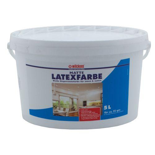 Latexfarbe Wilckens Farbe matt innen/außen weiß 5l online kaufen
