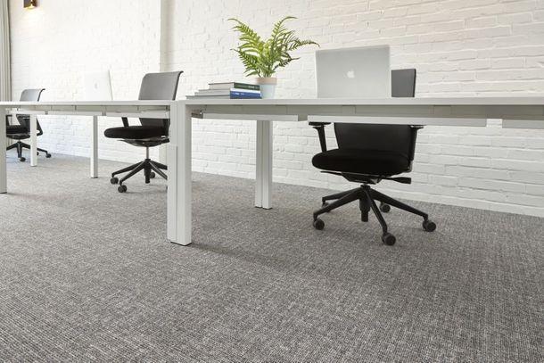 Gewerbe Teppichfliesen Teppichboden Meliert grau 50x50cm online kaufen