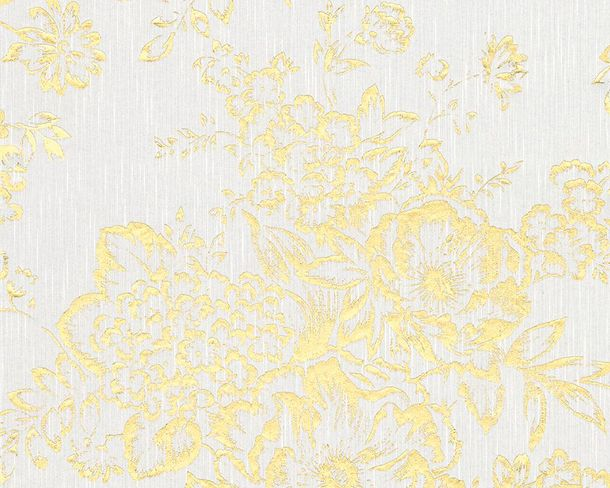 Wallpaper Textile flower white gold Architects Paper 30657-1 online kaufen