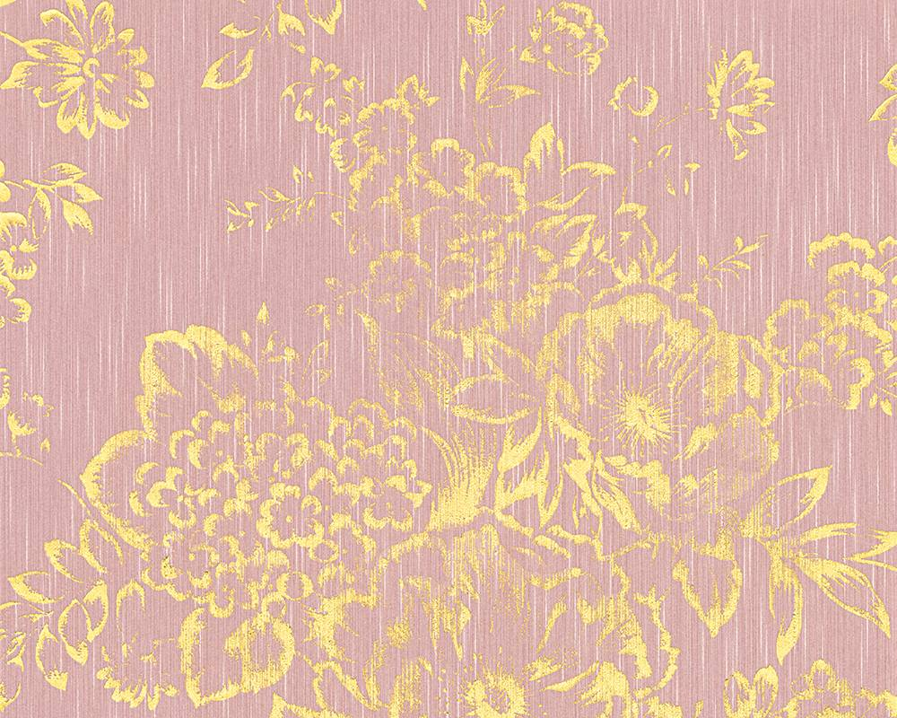 Tapete Textil Floral Rosa Gold Architects Paper 30657 5