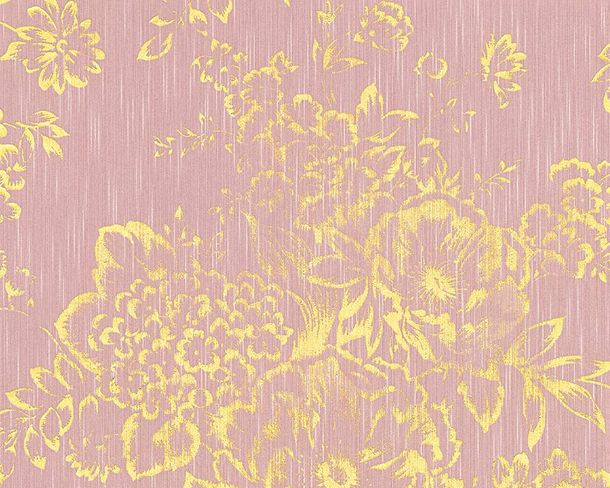 Tapete Textil Floral rosa gold Architects Paper 30657-5