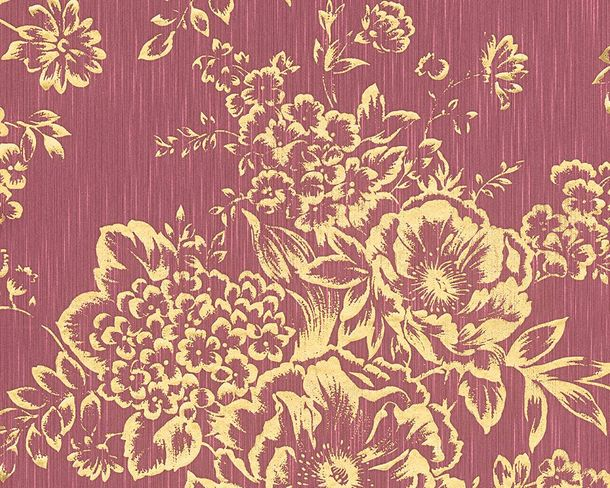 Tapete Textil Floral hellrot gold Architects Paper 30657-6
