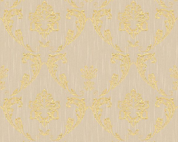 Tapete Textil Ornament beigegrau gold Architects Paper 30658-2