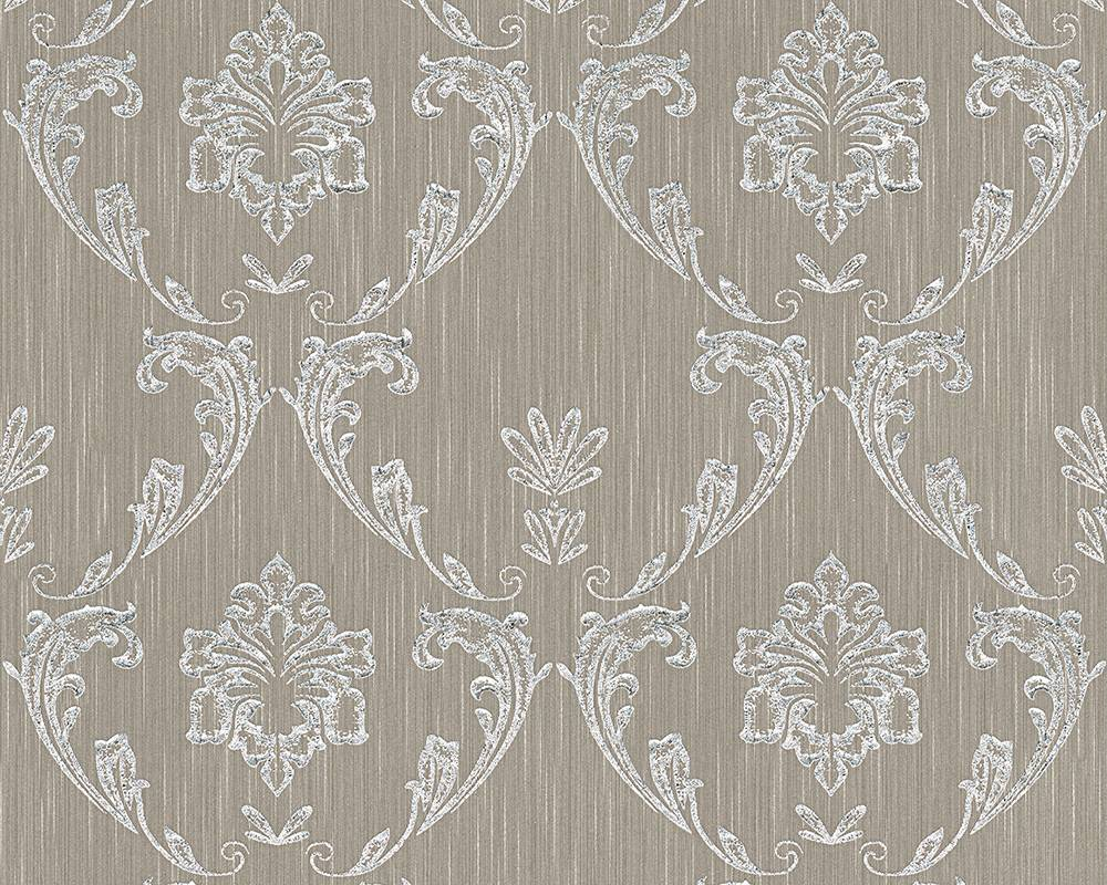 Tapete textil ornament taupe silber architects paper 30658 3 - Tapete textil ...