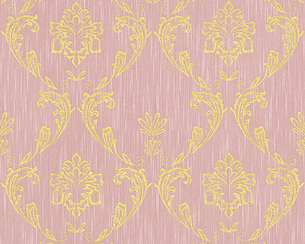 Tapete textil ornament rosa gold architects paper 30658 5 for Ornament tapete rosa
