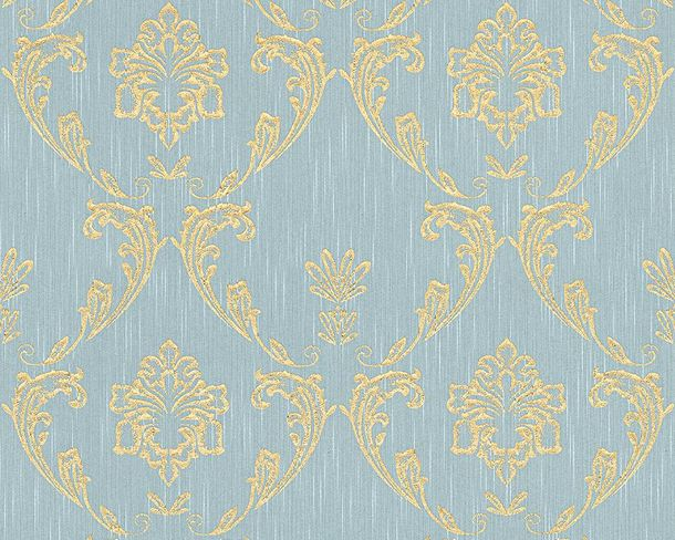 Tapete Textil Ornament hellblau gold Architects Paper 30658-6 online kaufen
