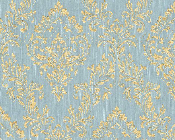 Tapete textil barock hellblau gold architects paper 30659 5 for Tapete hellblau