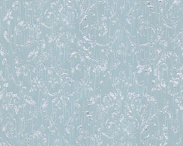 Tapete textil barock hellblau silber architects paper 30660 5 for Tapete hellblau muster