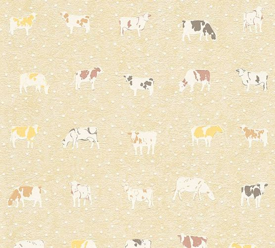 Wallpaper Kitchen Cow Animal Brown Beige 32459 1