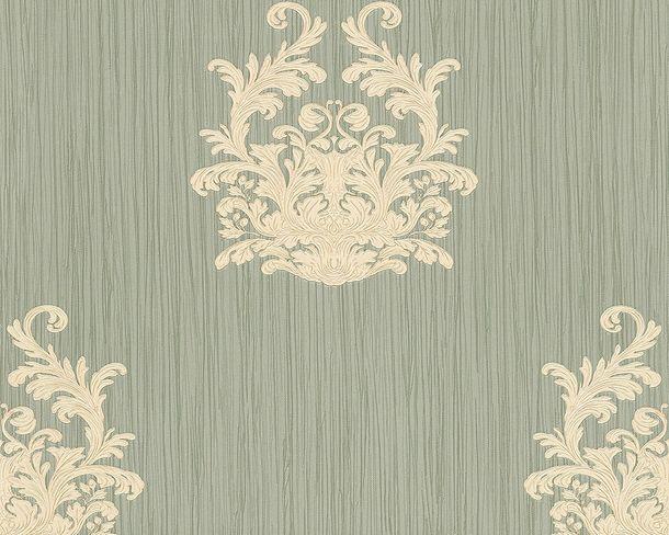 Tapete Vlies Architects Paper Barock graugrün Glanz 95861-2