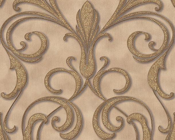 Tapete Vlies Architects Paper Ornament beigebraun Glanz 95892-1