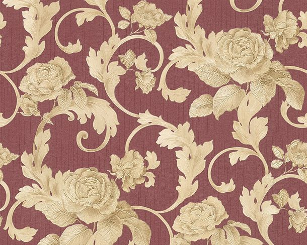 Wallpaper Architects Paper roses red Gloss 95983-2 online kaufen