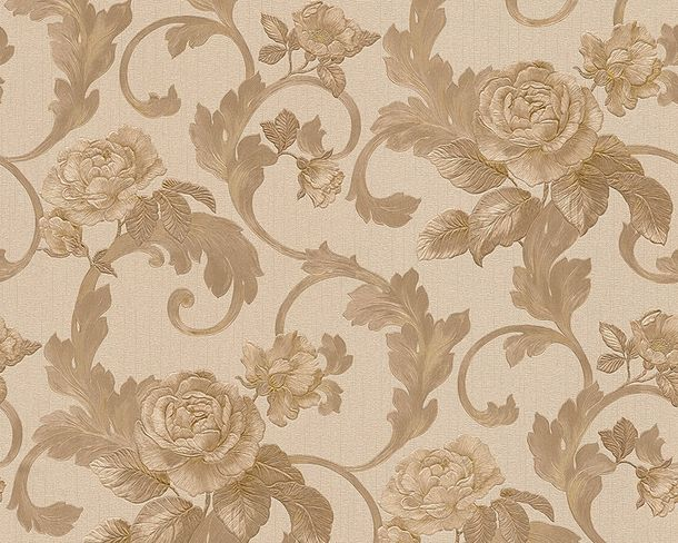 Wallpaper Architects Paper roses beige brown Gloss 95983-5 online kaufen