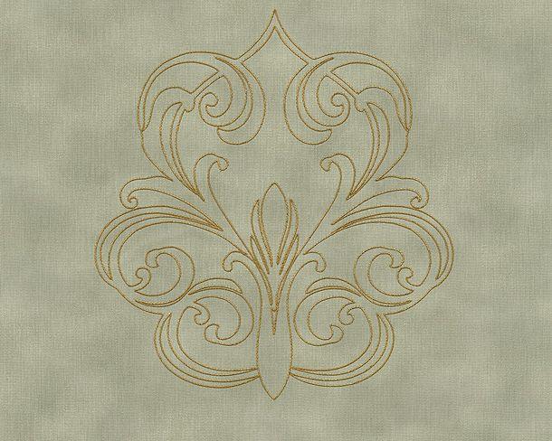 Wallpaper Architects Paper Panel baroque grey green Gloss 96983-4 online kaufen