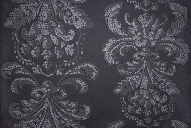 Tapete Vlies Barock Mosaik schwarz Glitzer Fuggerhaus 4789-35 online kaufen