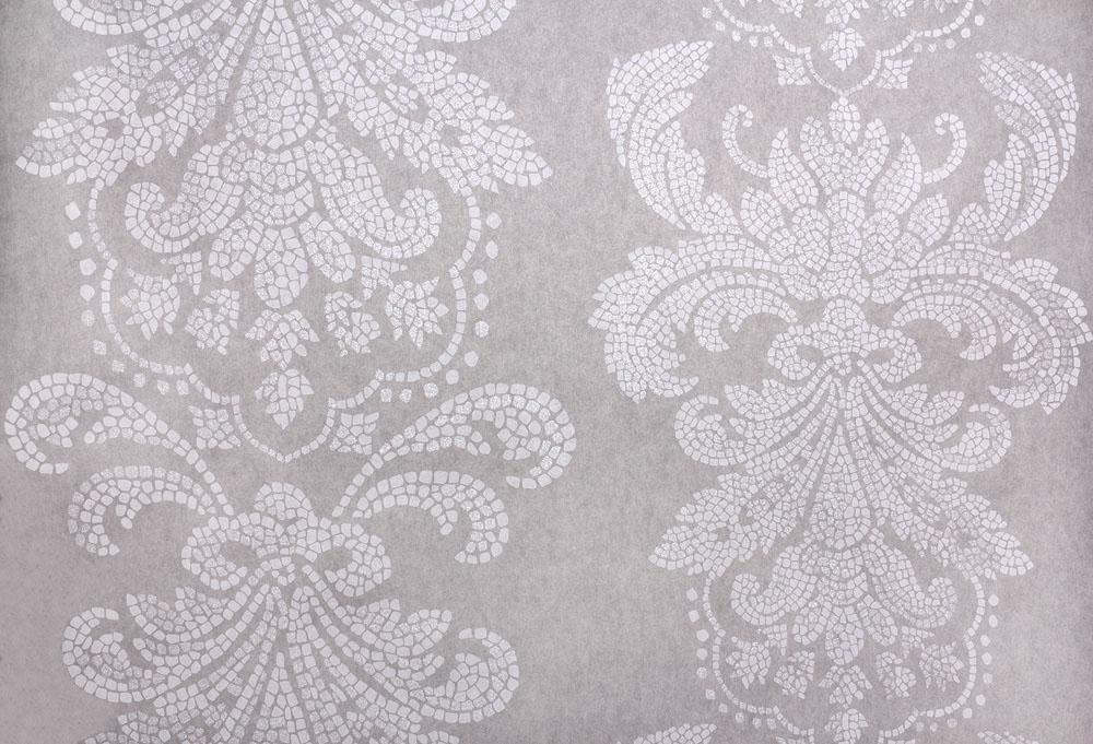 tapete vlies barock mosaik grau glitzer fuggerhaus 4789 42. Black Bedroom Furniture Sets. Home Design Ideas