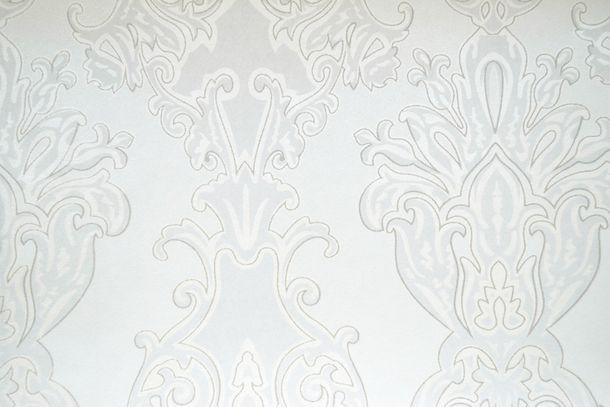 Tapete Vlies Ornament weiß Glanz Glitzer Fuggerhaus 4795-05