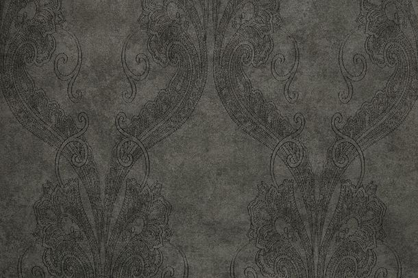 Wallpaper baroque anthracite black Fuggerhaus 4785-46