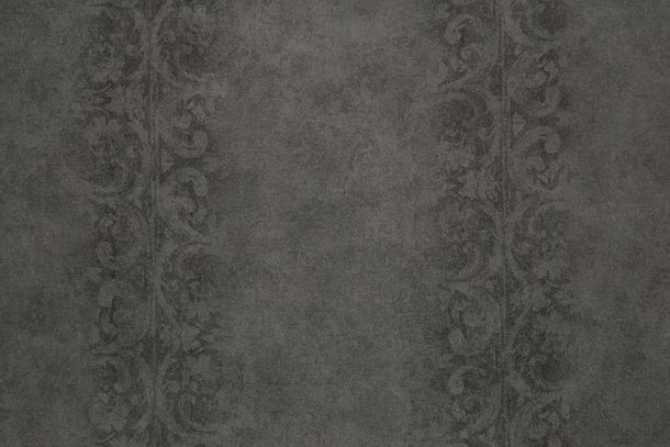 Wallpaper vintage tendril anthracite Fuggerhaus 4786-52