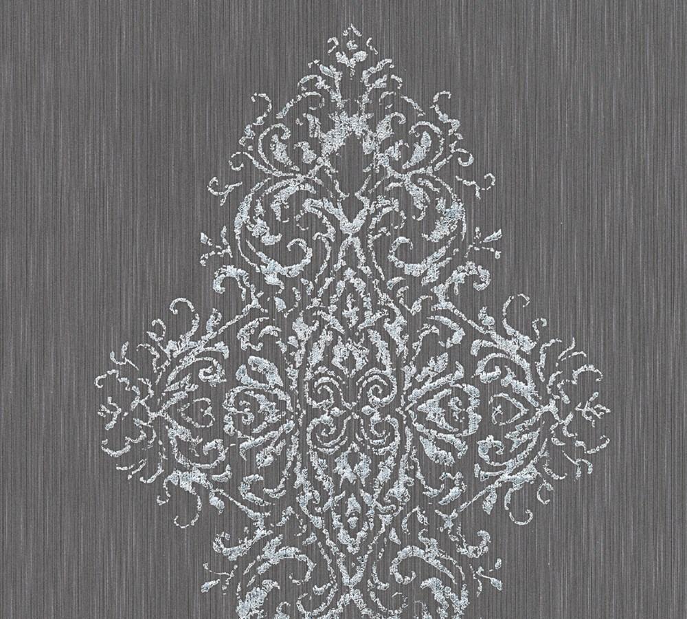 Tapete textil barock anthrazit architects paper 31945 4 - Tapete textil ...
