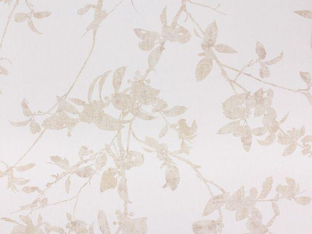 Tapete Vlies Blatt beige Glanz Fuggerhaus 4808-08