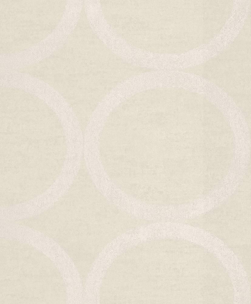 tapete vlies kreise beige metallic rasch textil 228150. Black Bedroom Furniture Sets. Home Design Ideas