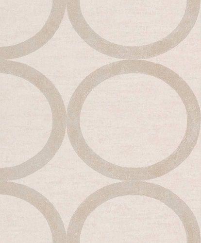 Tapete Vlies Kreise creme Metallic Rasch Textil 228167 online kaufen