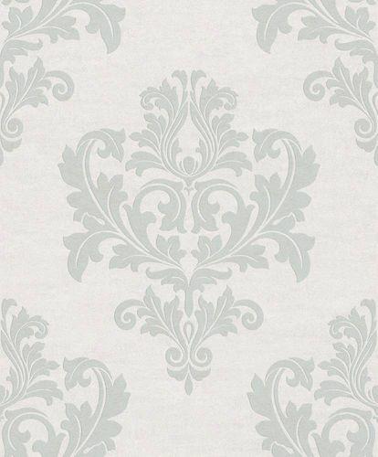 Tapete Vlies Ornament weißgrau Metallic Rasch Textil 228235
