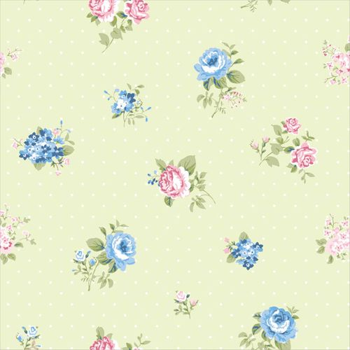 Wallpaper roses green blue World Wide Walls 070114