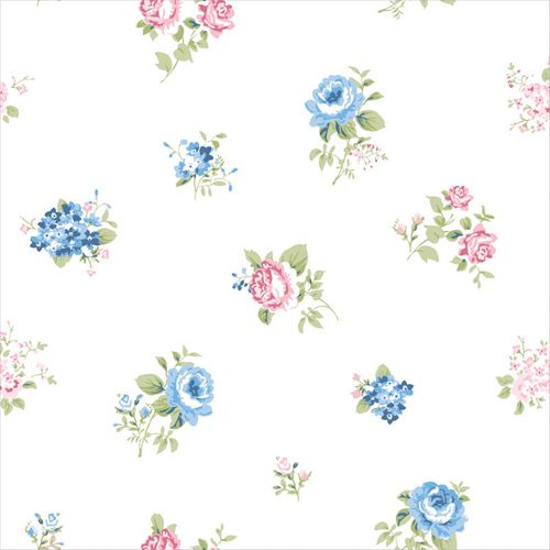 Wallpaper roses white blue World Wide Walls 070115 online kaufen