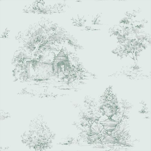 Tapete Vlies Vintage Natur mint Mariola 070402