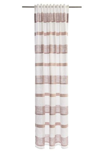 Loop Curtain Lea striped 245x140cm semi-transparent 5894-25 online kaufen