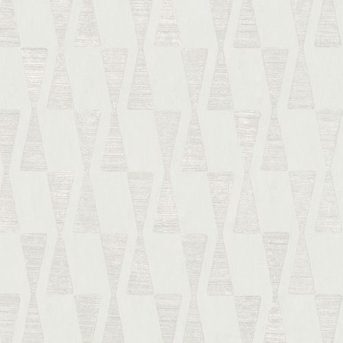 Dieter Langer Tapete Vlies Dreieck hellgrau Metallic 58855 online kaufen