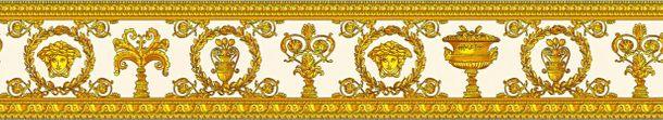 Versace Home Bordüre Medusa Lorbeer weiß gold 34305-2 online kaufen
