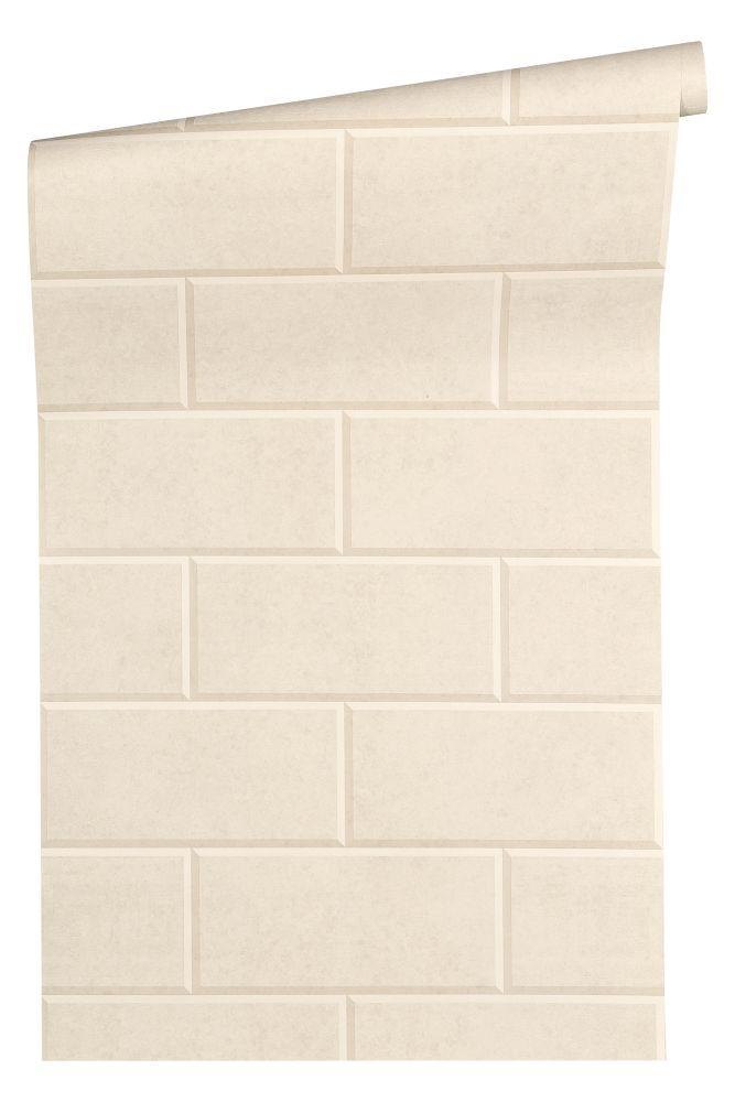 versace home tapete vlies 3d fliesen cremebeige beige. Black Bedroom Furniture Sets. Home Design Ideas