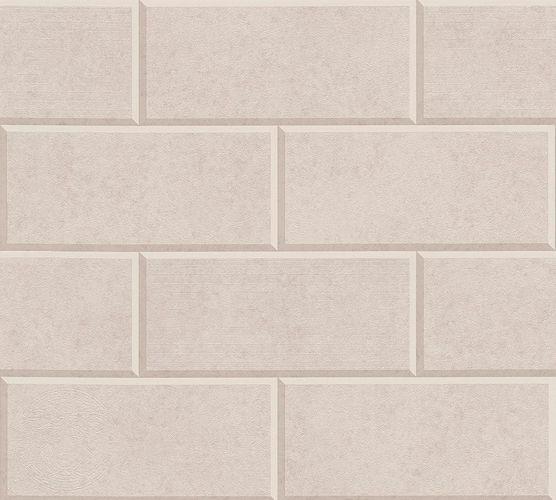 Versace Home Wallpaper 3d tile design taupe beige 34322-3 online kaufen