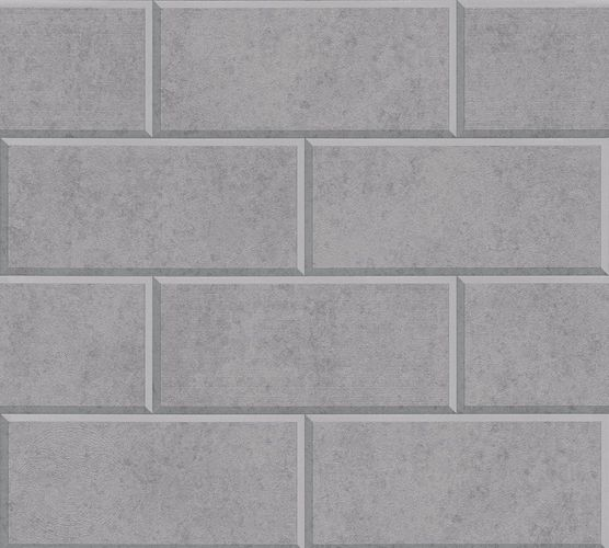 Versace Home Wallpaper 3d tile design grey light grey 34322-4 online kaufen