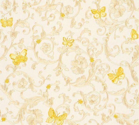 Versace Home Tapete Ranken weiß gold Glitzer 34325-1