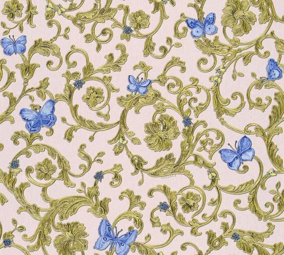 Versace Home Tapete Ranken rosé blau Glitzer 34325-6 online kaufen