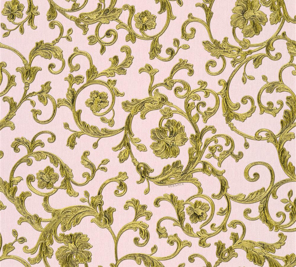 versace home wallpaper floral ros233 gold glitter 343264