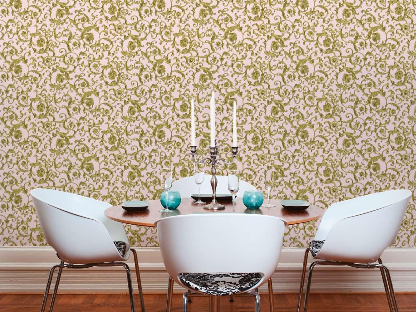 versace home tapete floral ros gold glitzer 34326 4. Black Bedroom Furniture Sets. Home Design Ideas