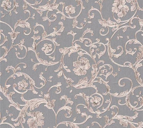 Versace Home Tapete Floral grau silbergrau Glitzer 34326-5 online kaufen