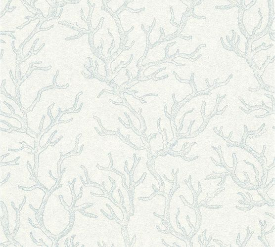 Versace Home Wallpaper coral blue white gloss 34497-2 online kaufen