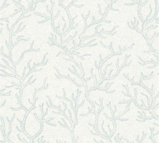 Versace Home Tapete Korallen blau weiß Glanz 34497-2 online kaufen